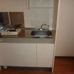 1口コンロ付キッチン・冷蔵庫スペース