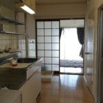 キッチンスペースも広めで自炊もしやすいですよ♪室内洗濯機スペースです(^^)/